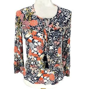 Anthropologie | Maeve Begonia Peasant Top Blouse T